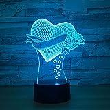 Mutter einzigartiges Geschenk romantische Liebe Rose Blume Nachtlicht Farbwechsel Neuheit Schreibtischlampe Hauptdekoration Nachttischlampe