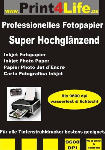 100 hojas A3 brillante cara papel fotográfico 260g /m² - instantánea seca - Profesional de alta resolución de inyección de tinta - papel fotográfico para impresiones de alta calidad con definición de los bordes precisos y de alto rendimiento de color