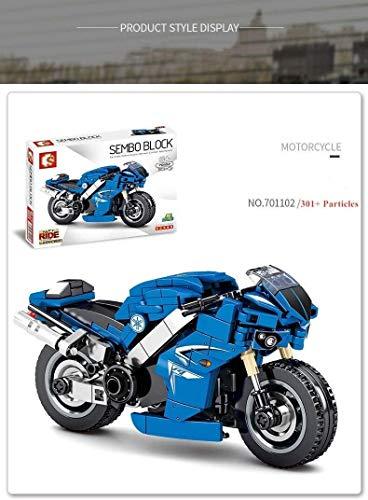 Conjunto de edificios de moto, Harley Motors 300+ kit de construcción para modelo de motocicleta, conjuntos de bloques de construcción compatibles con LEGO Technic, modelo de exhibición de superbike c