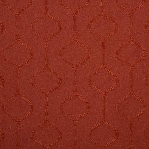 englisch dekor Tela para Muebles de Tela ignífuga Lana Shetland, Color Naranja, como Tela de tapicería Robusta, para Coser y relacionar, Lana Virgen, Poliamida, absorción de Ruido, oscurecimiento