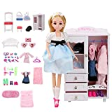 Lihgfw Dream Room Dress Up Puppe Set Geschenk-Kasten Puppen Spielhaus Mädchen Spielzeug 15-30cm...
