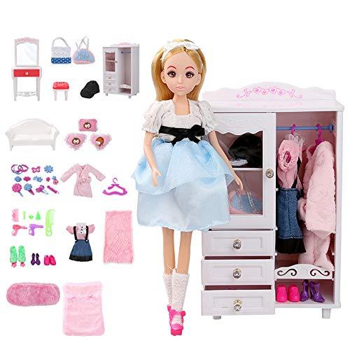 Lihgfw Dream Room Dress Up Puppe Set Geschenk-Kasten Puppen Spielhaus Mädchen Spielzeug 15-30cm Objekte können als Geburtstags-Geschenke Gebraucht