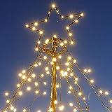 LED-Weihnachtsbaum 250 cm mit Stern beleuchtet mit 820 Micro-LED warmweiß für den Garten außen - 3