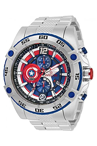 Invicta Marvel - Captain America 32501 blu Orologio Uomo Quarzo - 52mm