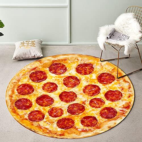 Mrinb 1pcs R&e Wurst Pizza Teppich - gedruckt Anti-Rutsch Boden Matte, Schlafzimmer Wohnzimmer dekorative Boden Filz, Spaß Home Decor