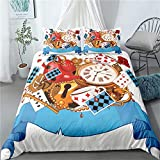 Un cuento de hadas de cama de la cubierta del Duvet floral 3D para niños niñas de belleza Impreso de cama cubierta del edredón con la cremallera Ligero microfibra Decoración,C,230x220cm