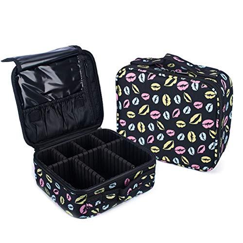 ZCPDP Make-up set voor dames, waterdicht, voor cosmetica, voor reizen, draagbaar, robuust en groot