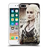 Official HBO Game of Thrones Daenerys Targaryen Quotes Soft Gel Case Compatible for iPhone 7 Plus/iPhone 8 Plus