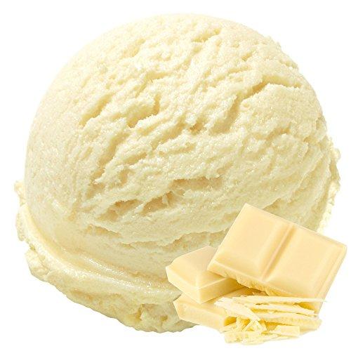 Weiße Schokolade Geschmack 1 Kg Gino Gelati Eispulver Softeispulver für Ihre Eismaschine