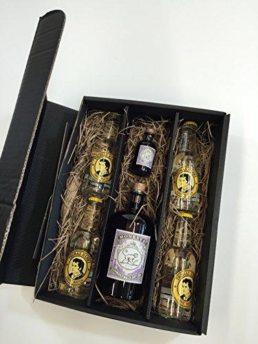 Monkey 47 Gin Tonic Set / Geschenkset - Monkey 47 Schwarzwald Dry Gin 500ml + 50ml(47% Vol) + 4x Thomas Henry Tonic Water 200ml