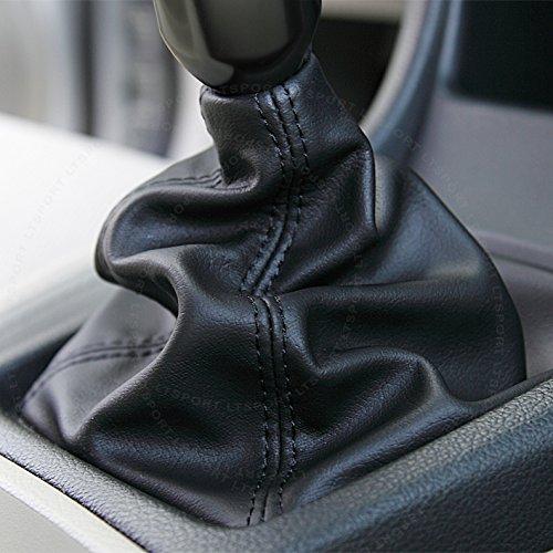 LT Sport Manual Transmission Gear Shift Knob Stick Shifter Boot Cover Black PVC Leather