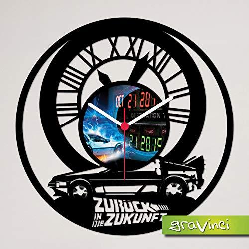Gravinci.de Schallplatten-Wanduhr Zurück in die Zukunft