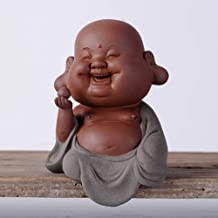 Chinese Feng Shui Decor Ceramic Laughing Buddha Statues Good Luck and Attract Wealth Congratulatory Gifts for Home and Office
