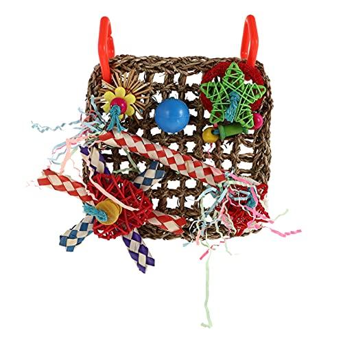 Balacoo Juguetes para Pájaros Pequeños Juguetes Coloridos Colgantes Trituradores Loro Triturador Juguete Perico Juguetes para Masticar Aves Loofah Juguete para Conures Cockatiel Budgies