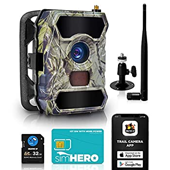 CREATIVE XP Cellular Trail Cameras – Outdoor WiFi Full HD Wild Game 3G Camera with Night Vision for Deer Hunting Security - Wireless Waterproof and Motion Activated – 32GB SD Card + Sim Card  1-Pack