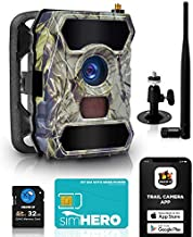 CREATIVE XP 3G Cellular Trail Cameras – Outdoor WiFi Full HD Wild Game Camera with Night Vision for Deer Hunting, Security - Wireless Waterproof and Motion Activated – 32GB SD Card + Sim Card (1-Pack)