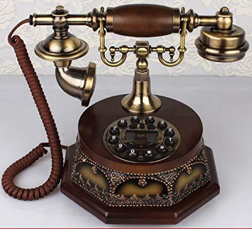 Dirgee Teléfono Viejo, teléfono Fijo de Madera Maciza/Pastoral/teléfono Fijo 24x20x20cm Teléfono Celular (Color # 1) (Color : #1)