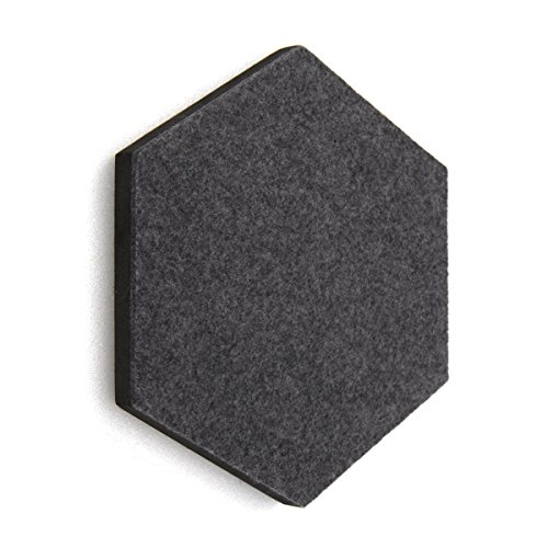 thehaki Sandwich Felt Board Hexagon Type Memo Board 1pcs (Dark Gray)