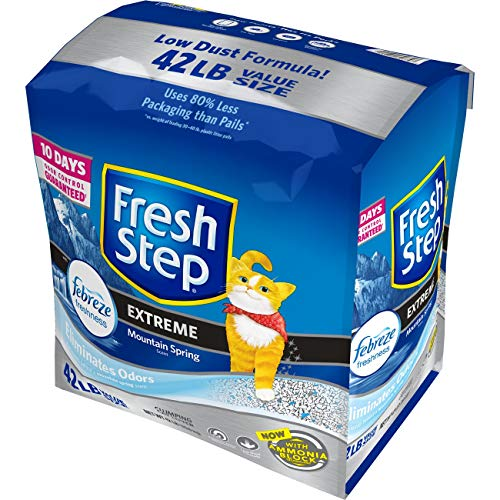 Fresh Step Extreme Scented Litter with the Power of Febreze, Clumping Cat Litter, 42 Pounds