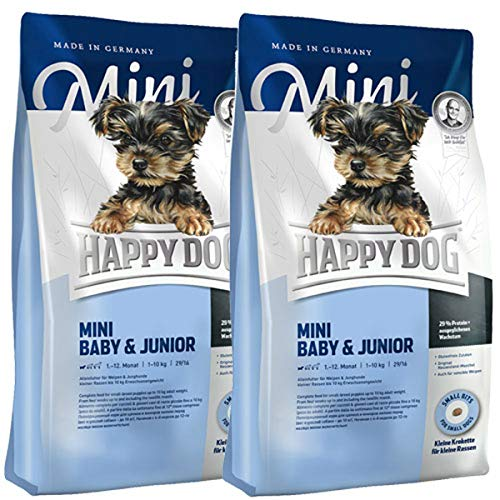 Happy Dog 2 x 4 kg Supreme Mini Baby & Junior