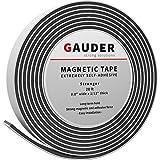GAUDER Magnetband selbstklebend   Magnetstreifen mit extra starkem Kleber   Magnetklebeband (20mm x...