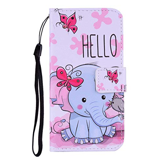 Apple iPhone 6 / iPhone 6s Case,THRION PU Leather Flip Wallet Cover with Card Slot Holder and Magnetic Closure for Apple iPhone 6 / iPhone 6s, Elephant #1
