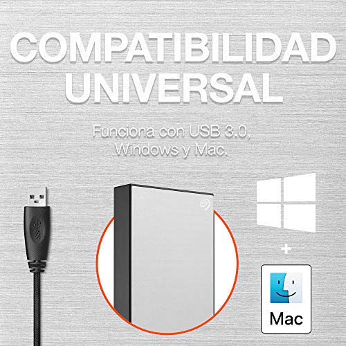 Seagate One Touch de 5 Tb, Unidad de Disco Duro Externa, Plateada, Usb 3.0 Para Pc, Ordenador Portátil y Mac, 1 Año Myliocreate, 4 Meses Plan Adobe Creative Cloud Photography (Stkc5000401) miniatura