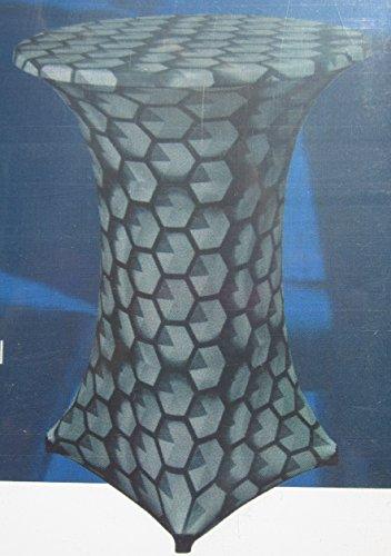 Stehtischhusse bis 80cm 4 Fuß Stehtisch Stretch Husse Bistrotisch grau schwarz