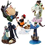 5pcs/Set Japan Anime Figure Toys Totoro Ogino Chihiro Castle in The Sky Pasu Sheeta Howl's Moving Castle Howl Sophie Movie Dolls