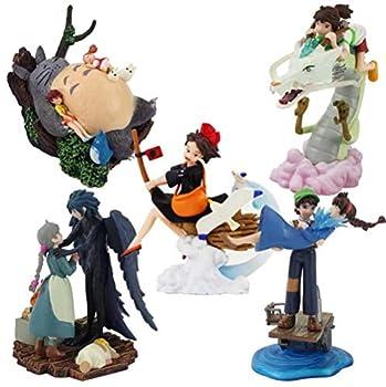 5pcs/Set Japan Anime Figure Toys Totoro Ogino Chihiro Castle in The Sky Pasu Sheeta Howl s Moving Castle Howl Sophie Movie Dolls
