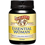 Barlean's Essential Woman Oil Blend from Flaxseed Oil with Omega 3 6 9 and GLA - Non-GMO, Gluten Free - 120 Softgels