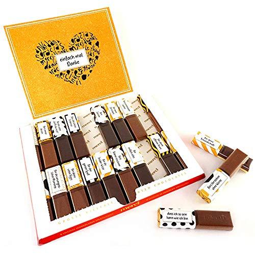 SURPRISA Aufkleberset für Merci-Schokolade: Das persönliche Dankeschön und kreative Geschenk für den/die Bruder/Schwester