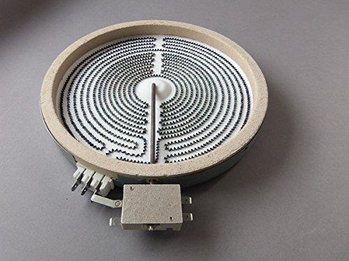 BSD Calefactor de Hornilla Placa Cocina Vitrocerámica Dual 120/180mm 700/1700W Import