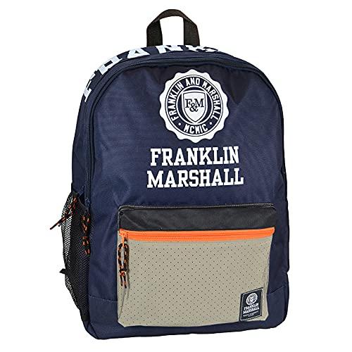 Senfort Franklin & Marshall D-Pack 2 scomparti e zaino con tasca anteriore, 44 cm larghezza x 30 cm altezza x 18 cm altezza (blu)