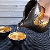 酒器 おしゃれ 徳利 おちょこ セット 冷酒 とっくり 日本酒 2.2合 日本製 美濃焼 ブラック 黒 ゴールド 金 ぐい呑み 盃 お猪口 陶器