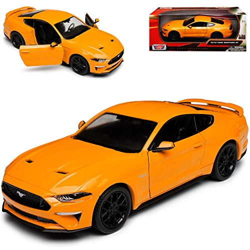 Motormax Ford Mustang VI Coupe Orange Modell Ab 2014 Version ab Facelift 2017 1/24 Modell Auto