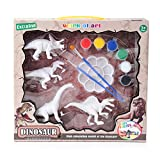 Katyma DIY 3D Dinosaurio Pintura 4pcs niños Kit de Pintura Figuras Dibujo Modelo Graffiti Juguetes para Colorear para niños Regalo