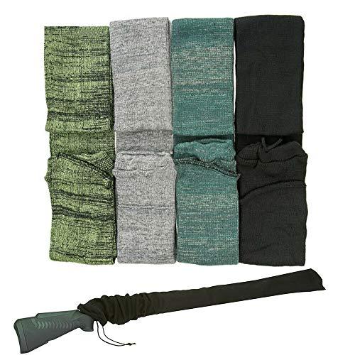 Weatlake 4X 54 Inch Shotgun Rifle Sock Gun Sleeve Hunting Bags Silicone Treate Shooting