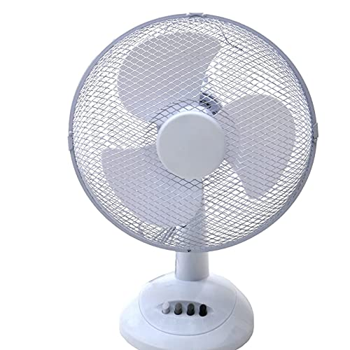 YYGHF Soporte De Piso De Ministerio del Interior Eléctrico De 12 Pulgadas Y 3 Velocidades, Fan Portátil del Oscilación De DC