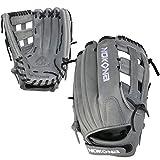 NOKONA AmericanKip Gray H-Web 12.5 Inch A-V1250H-GR BK Fastpitch Softball Glove (Black Lacing)