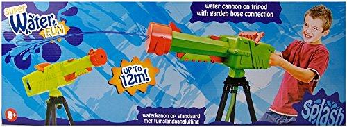 SuperWaterFun große Wasserkanone auf Dreibeinstativ mit Schlauchanschluss