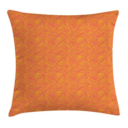 SSHELEY Vintage Tribal Throw Pillow Cushion Cover, Monochrome Triangles Neo Style Rhythmic Illustration Pillow Case