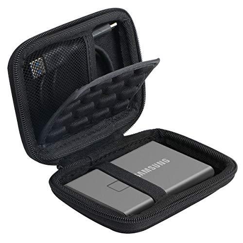 Khanka Duro Viaje Estuche Bolso Funda para Samsung T7 Touch Portable SSD 500GB 1TB 2TB (Se Adapta a 1 SSD, con Capa a Prueba de Golpes)