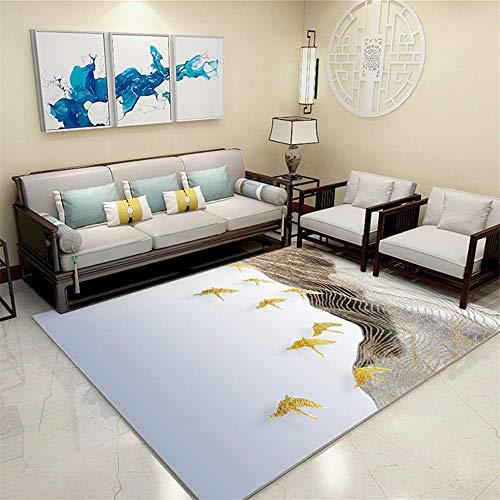 Alfombra Para Silla Gaming azul Alfombra de sala de estar azul patrón de malla abstracta alfombra de varios tamaños antiácaros Antideslizante Para Alfombras Los 200X300CM Moqueta Negra 6ft 6.7''X9ft 1