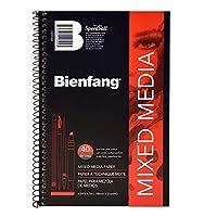 Bienfang ミックスメディア用紙パッド: 5 1/2インチ x 8 1/2インチ