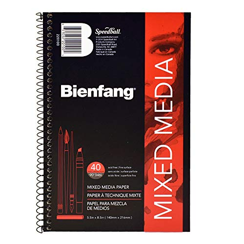 Bienfang Mixed Media Paper Pad, 5.5' x 8.5', White