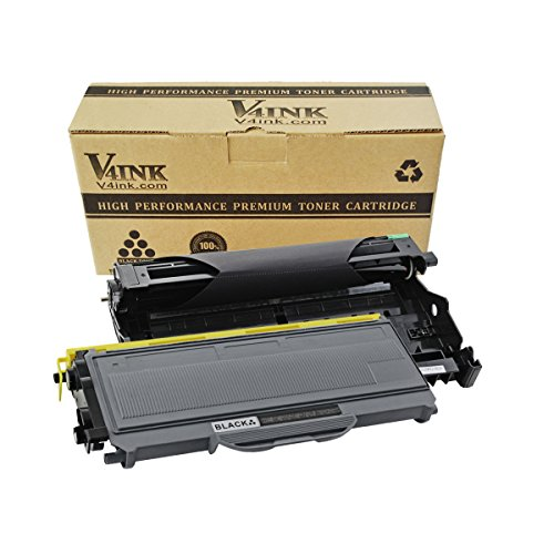 (1 Drum + 1 Toner) V4INK174; New Compatible Replacement for Brother DR360 + TN360(1 Toner, 1 Drum, 2 Pack)for Printer HL-2140/2150/2170Series/DCP-7030/7040Series/MFC-7340/7440/7840 Series