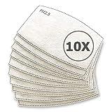 TBOC Filtros para Mascarillas - [Pack 10 Unidades] Desechables PM2.5 de Carbón Activado con 5 Capas de Filtración Material Suave y Transpirable Evita el Polvo Sustancias Nocivas y Contaminación