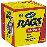 Scott Rags In A Box (75260), White, 200 Shop Towels / Box, 8 Boxes / Case