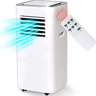 DZWJ Aire Acondicionado portátil, Control Remoto, Control táctil LED Deshumidificador de Ventilador de enfriamiento Temperatura Ajustable